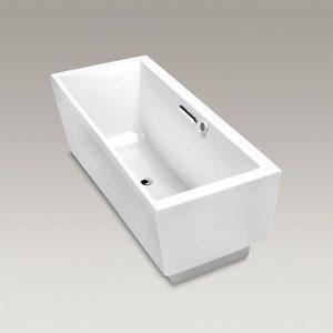 K-18344T-G-0長方形獨立式泡泡浴缸