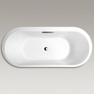 K-18345T-0橢圓形嵌入式壓克力浴缸