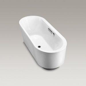 K-18348T-G-0橢圓形獨立式泡泡浴缸