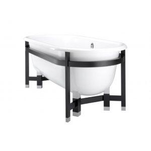 K-1869T獨立式鑄鐵浴缸帶實木支架-640x853